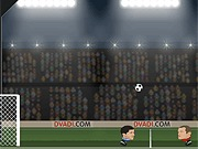 Piłkarska gra głowami dla dwóch graczy
