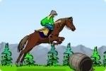 Skakanie przez przeszkody na koniu
