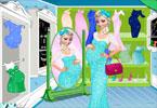 Elsa w ciąży na zakupach