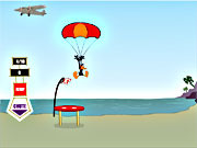 Kaczor Duffy: skok ze spadochronem