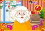 Mikołaj u fryzjera