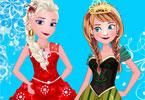 Elsa i Anna ubieranka