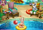 Elsa na basenie