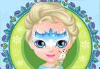 Dziecko Barbie malowanie twarzy
