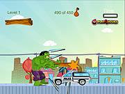 Demolka miasta z Hulkiem