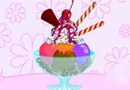 Dekoracja deseru lodowego