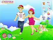 Ubieranka dziewczynka i chłopczyk