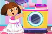 Dora w pralni