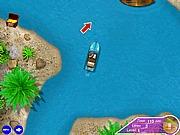 Gra pływanie motorówka