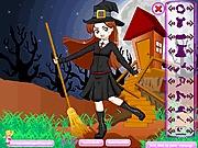 Gra czarownica na miotle dla dzieci