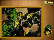 Układanie puzzli z Hulkiem