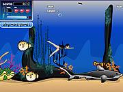 Nurkowanie z rekinami w oceanie