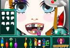 Tchórzliwa dziewczynka u dentysty