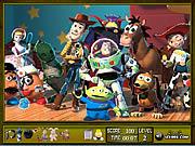 Szukanie przedmiotów z Toy Story