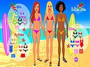 Ubierz dziewczyny na plażę