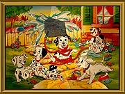 Gra puzzle 101 dalmatyńczyków