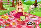 Roszpunka w ciąży na pikniku