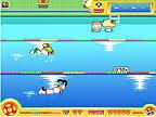 Gra pływanie w basenie na 100m