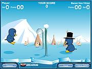 Turniej pingwinów w siatkówce na lodzie