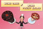 Winna sałatka i ciasto