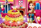 Anna piecze tort weselny