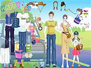 Stylizowanie rodzinki na wycieczkę za miasto