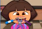 Dora u zabawnego dentysty