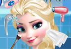 Elsa w salonie piękności