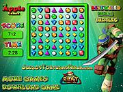 Bejeweled Żółwie Ninja