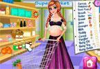 Anna w ciąży robi zakupy