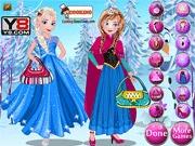 Elsa i Anna ubieranka z krainy lodu