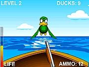 Strzelanie do kaczek z łodzi
