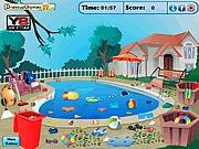 Sprzatanie basenu po imprezie