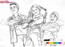 Kolorowanka Czarodzieje z Waverly Place