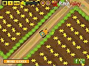 Farmer parkuje traktor