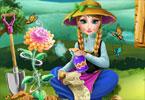 Anna zasadziła kwiatki