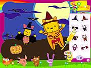 Stylizacja Puchatka i przyjaciół na Halloween