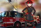 Kobieta strażak