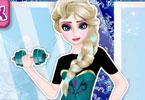 Elsa na siłowni