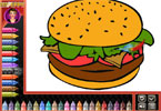 Pokoloruj fastfooda