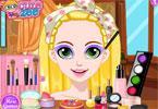 Roszpunka - błyszczący makijaż