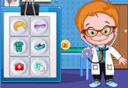 Ubieranie młodego lekarza