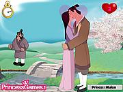 Książe i księżniczka całowanie