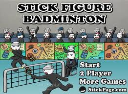 Gra stick figure badminton