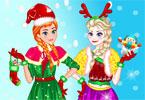 Świąteczny dzień Elsy i Anny