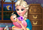 Elsa karmi dziecko