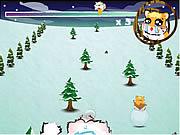 Gra Ucieczka chomika przed śniegowym potworem