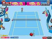 Gra mecz w tenisa