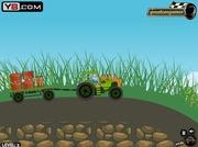 Traktor bez kabiny i dachuz przyczepką