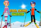Amy na nartach narciarzy